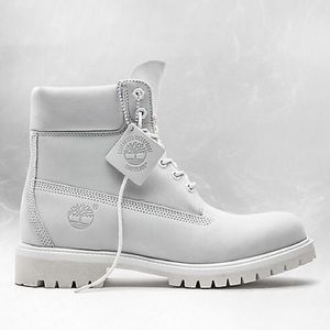 Limited Edition Ghost White Timberlands 6in Boots